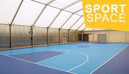 SportSpace - salles sportives en acier, aluminium ou bois