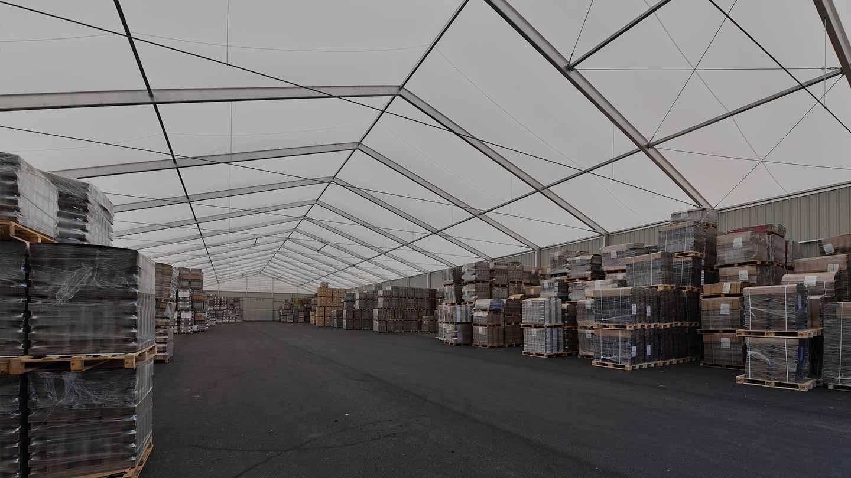 Bâtiments démontables tentes industrielles - Bâtiments industriels démontables en aluminium