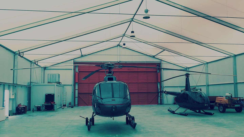 Bâtiments démontables tentes industrielles - AirSpace - Structures démontables pour avions et aéroports